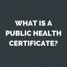 what is a public health certificate?
